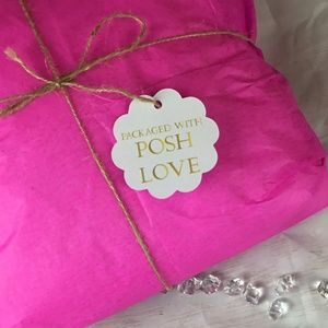 Other - 100 Packaged With Posh Love  Round Scallop Tags